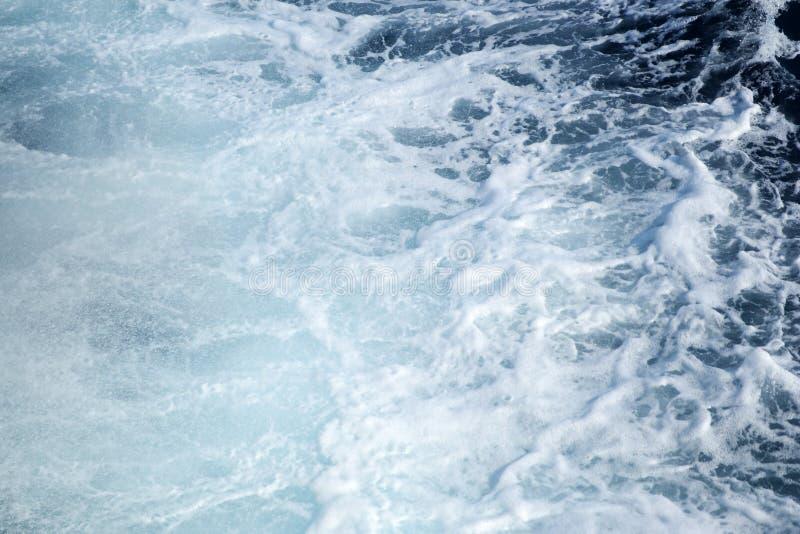 Mar espumoso com bolhas fotografia de stock