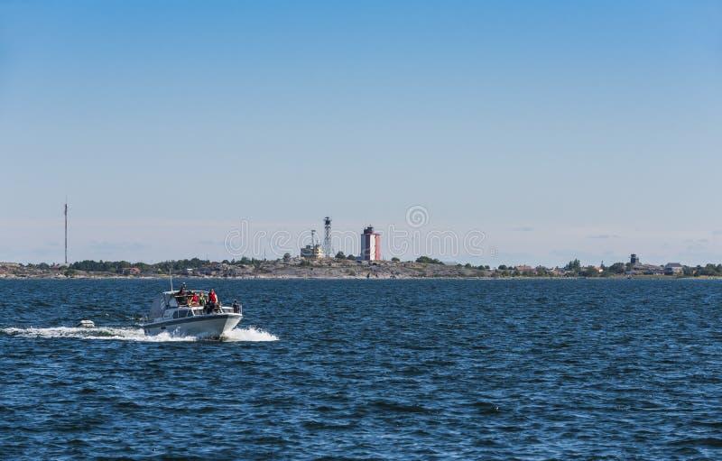 Mar Finlandia do arquipélago do farol de Utön imagem de stock royalty free