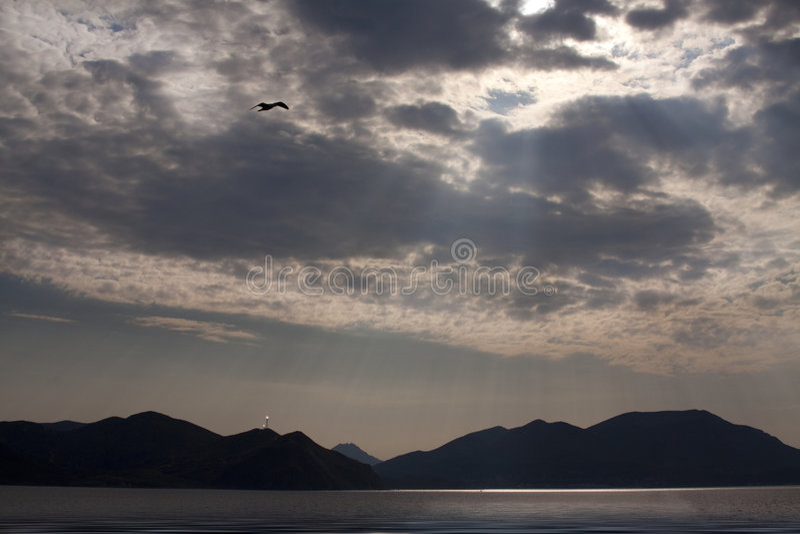 Mar Gokceada-Egeo de la isla. imagen de archivo