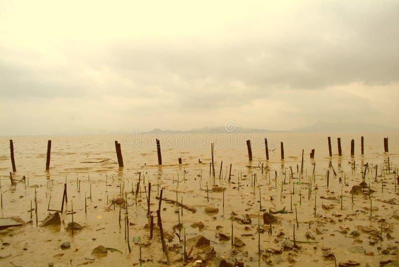 Mar horizontal imagenes de archivo