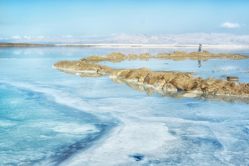 Mar inoperante em Israel imagens de stock royalty free