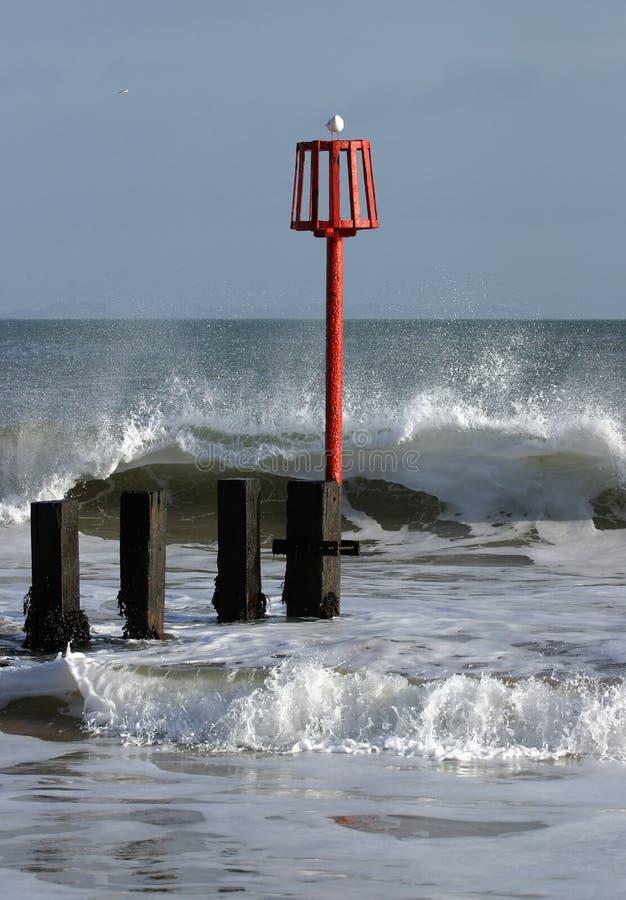 Mar invernal foto de stock