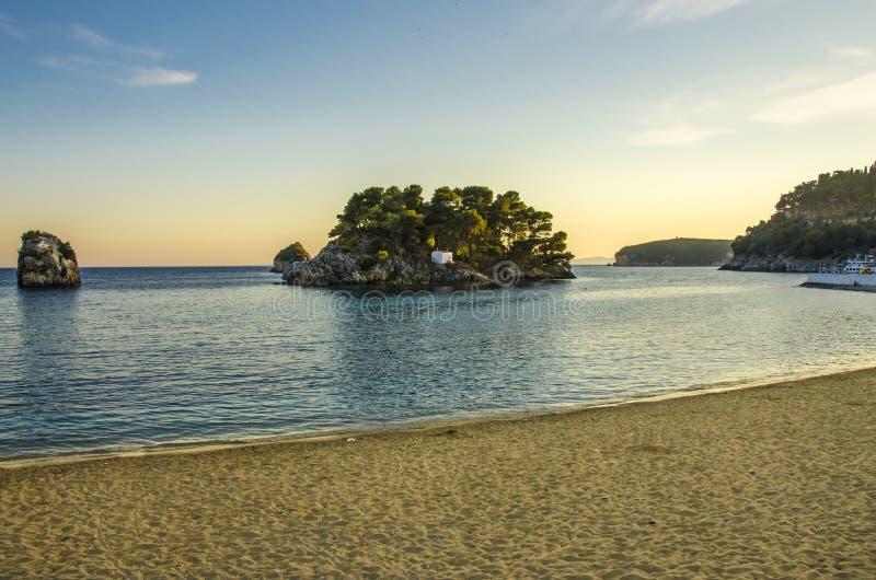 Mar Ionian - Parga, Preveza, Epirus, Grécia foto de stock royalty free