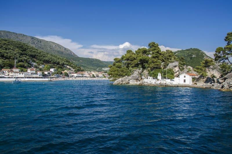 Mar Ionian - Parga, Preveza, Epirus, Grécia imagem de stock