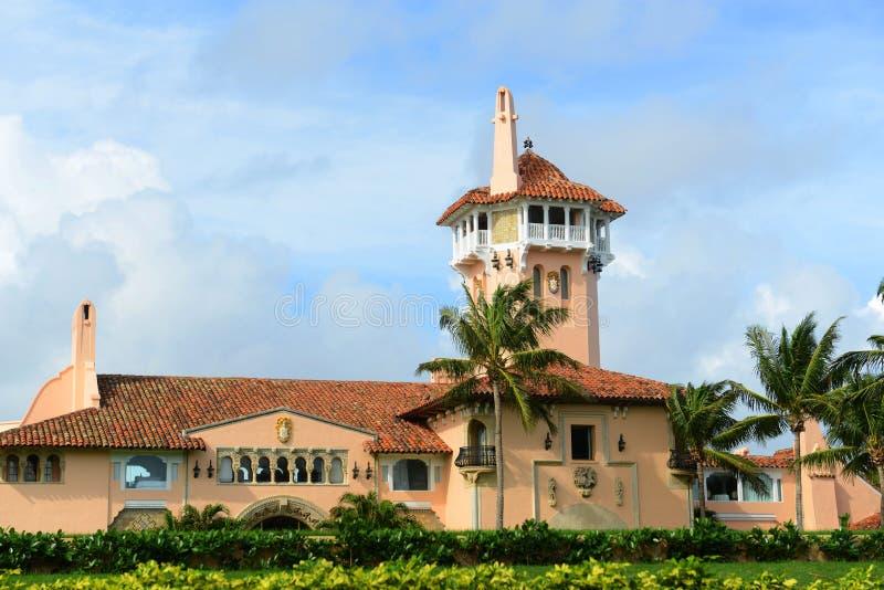 Mar--Lago на острове Palm Beach, Palm Beach, Флориде стоковая фотография