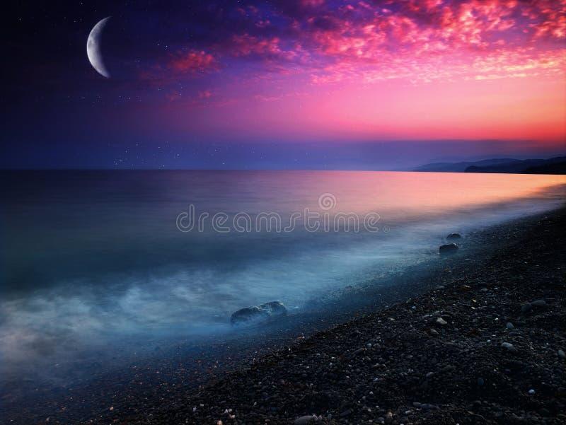 Mar místico foto de archivo