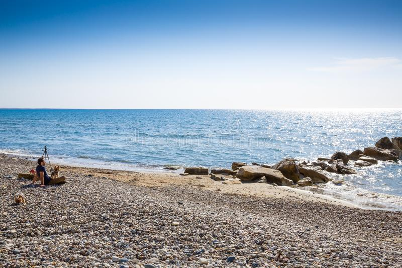 Mar Mediterráneo imagen de archivo