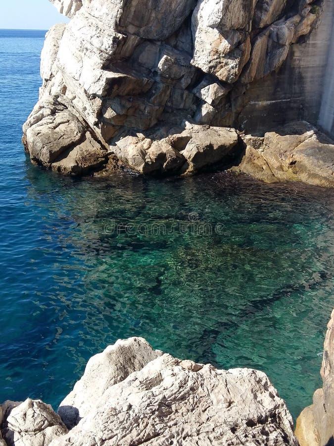 Mar Mediterráneo de Dubrovnik fotos de archivo libres de regalías