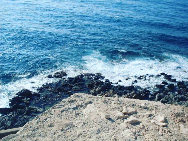 Mar Mediterráneo, playa limpia, Creta Grecia imágenes de archivo libres de regalías