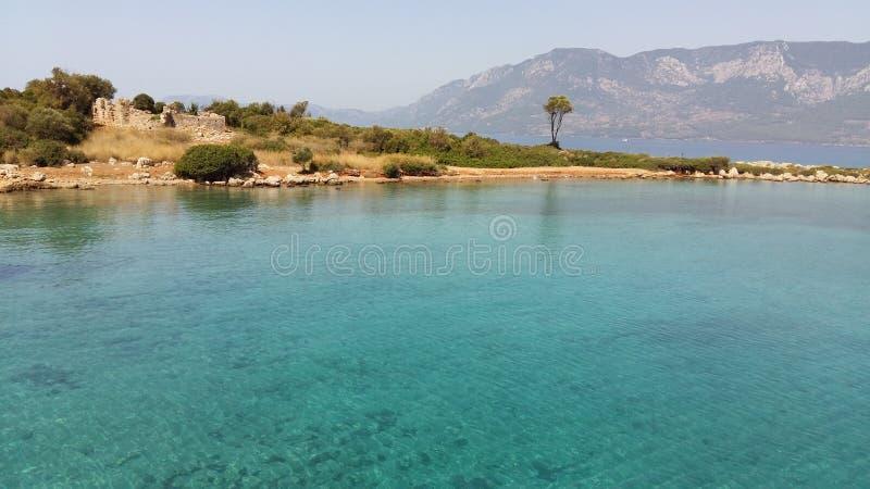 Mar Mediterrâneo da paisagem foto de stock