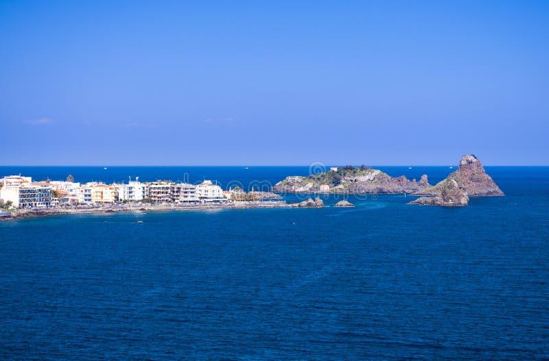 Mar Mediterrâneo em Sicília fotografia de stock