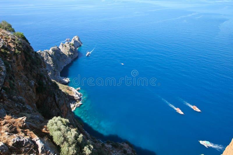 Mar Mediterrâneo - praia Alanya, Turquia foto de stock