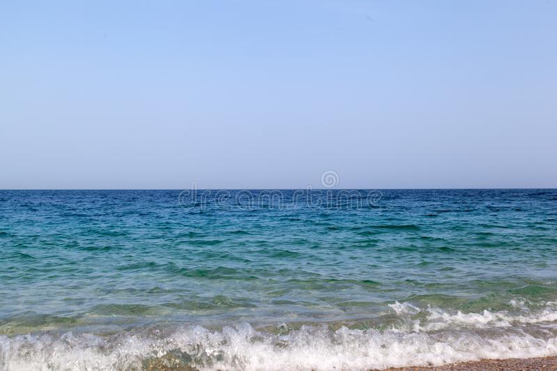 Mar Mediterraneo blu fotografie stock libere da diritti