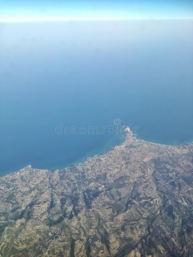 Mar Mediterraneo da sopra immagine stock