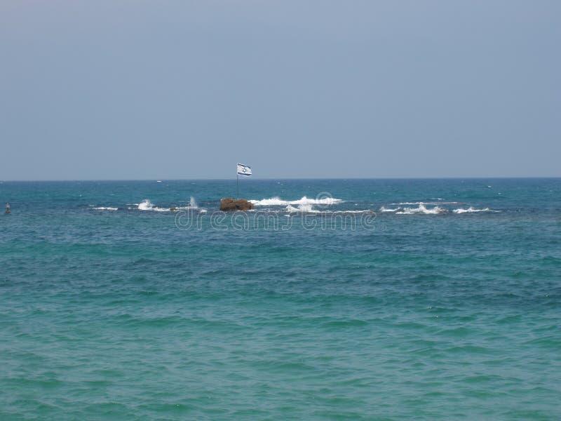 Mar Mediterraneo dell'Israele fotografie stock