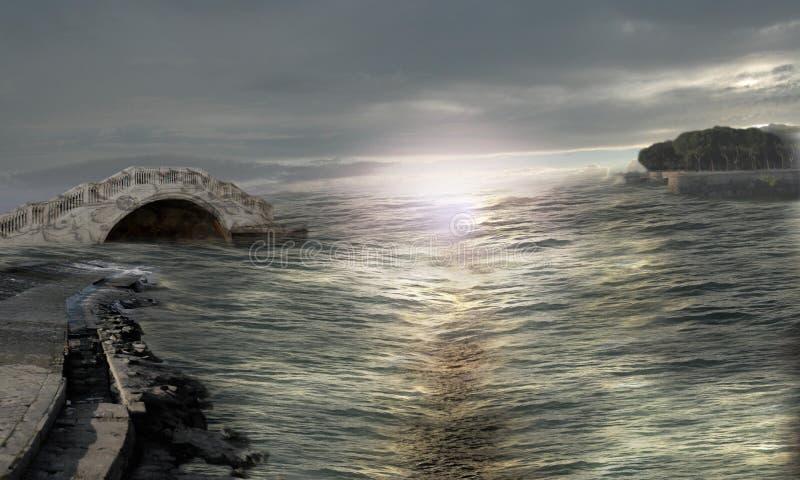 Mar misterioso imagens de stock