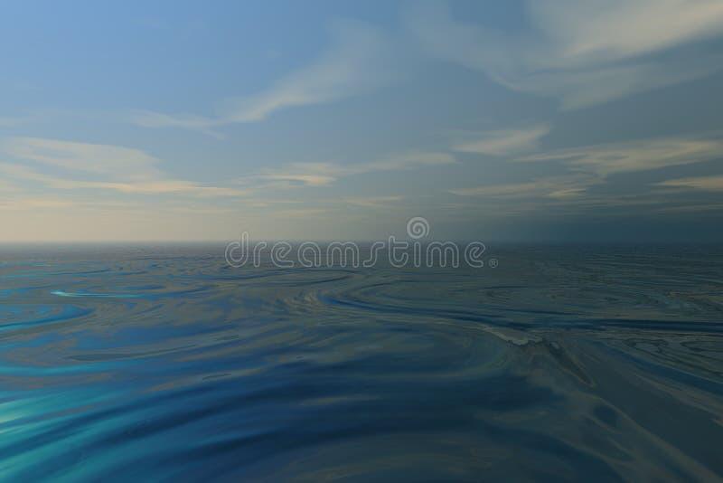 Mar misterioso ilustración del vector