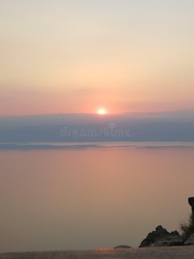 Mar Morto do por do sol imagens de stock royalty free