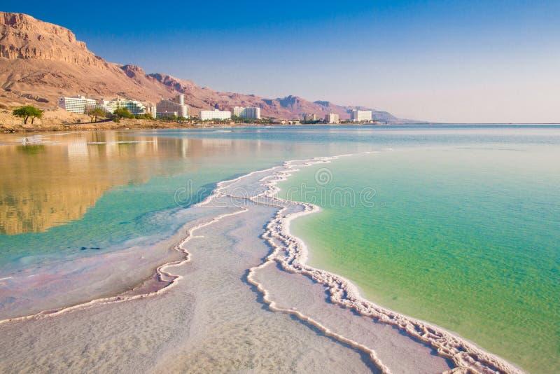 Mar Morto no nascer do sol foto de stock