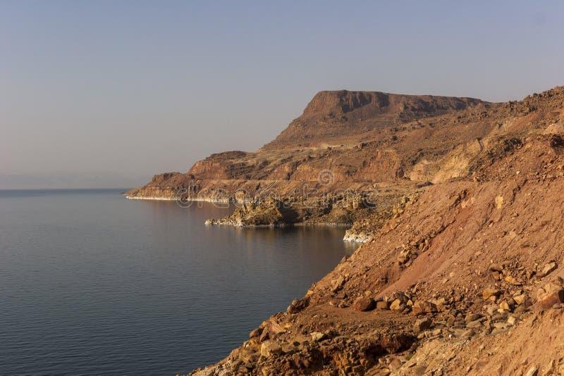 Mar Morto, um do lago o mais salgado do ` s do mundo foto de stock royalty free