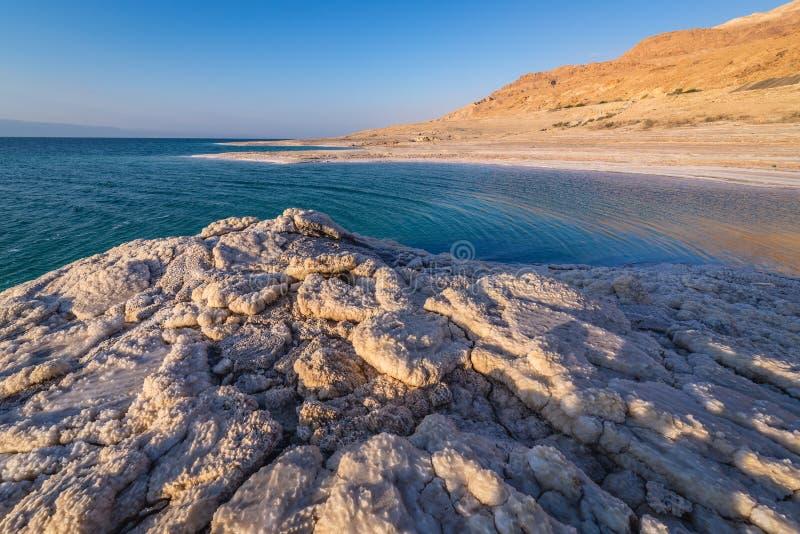 Mar muerto en Jordania imágenes de archivo libres de regalías