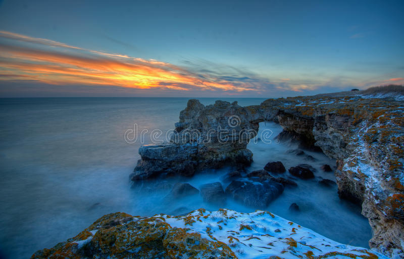 Mar Nero Bulgaria immagine stock