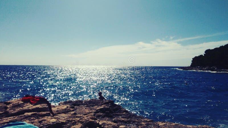 Mar no sol imagens de stock royalty free
