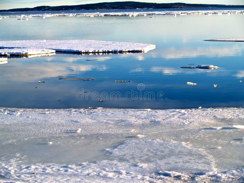 Mar que se convierte libremente del hielo fotografía de archivo libre de regalías