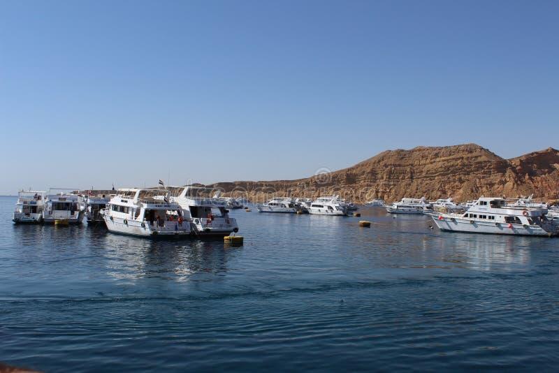 Mar Rojo, yates y barcos imagen de archivo libre de regalías