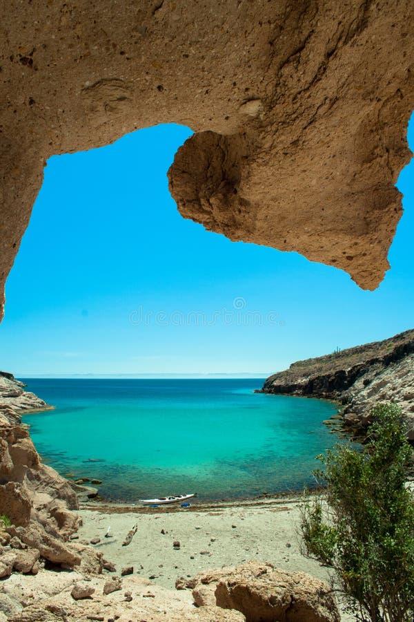 Mar secreto da praia de Paraside de Cortez foto de stock