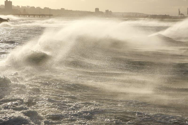 Mar soplado viento fotografía de archivo