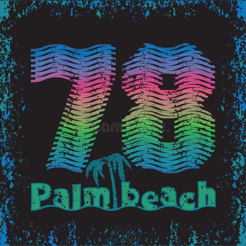 Mar surfando do sol, t-shirt surfando, typograph da inscrição do t-shirt ilustração do vetor