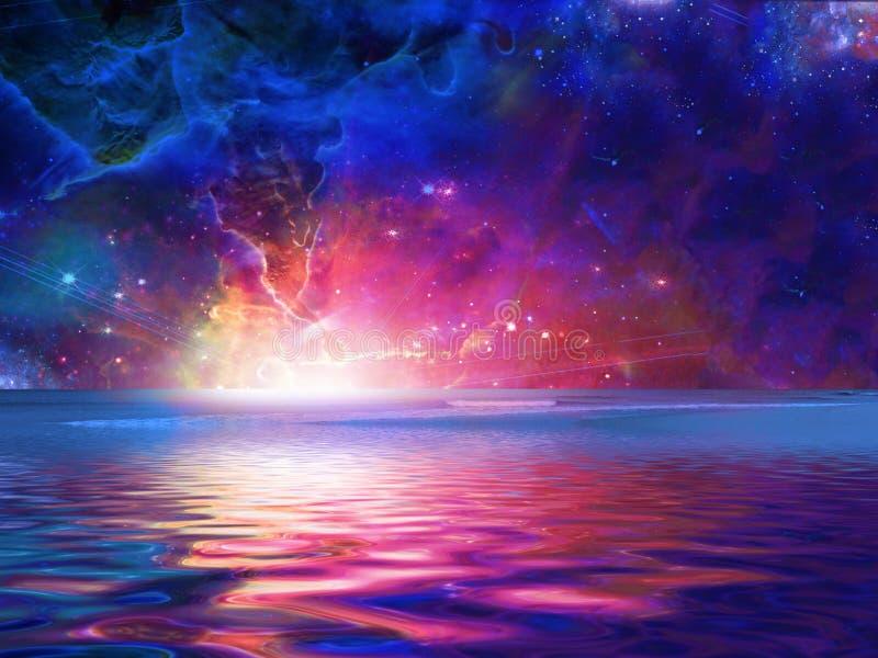 Mar surreal ilustração royalty free