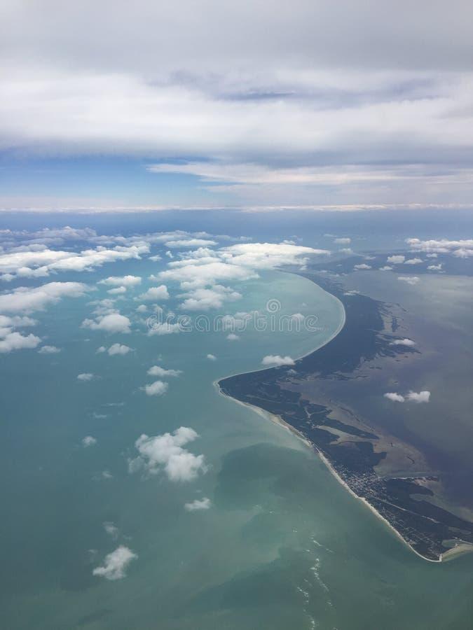 Mar & terra da península imagens de stock royalty free