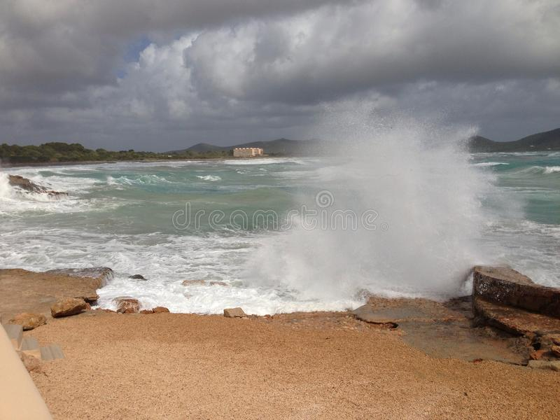 Mar tormentoso fotos de stock