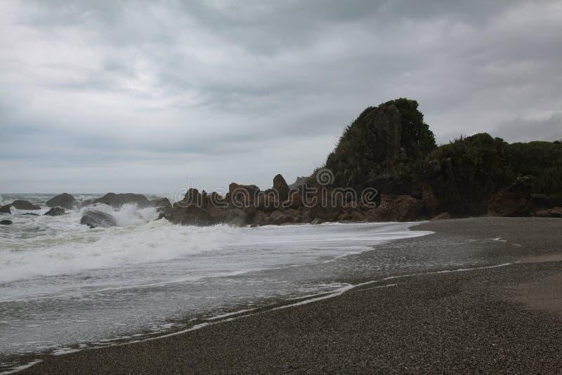 Mar tormentoso imagens de stock