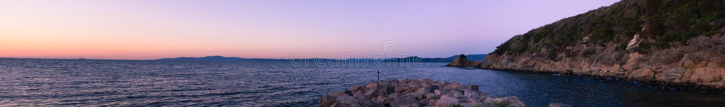 Mar Toscânia panorâmico Itália foto de stock