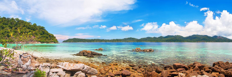 Mar tropical bonito fotos de stock royalty free