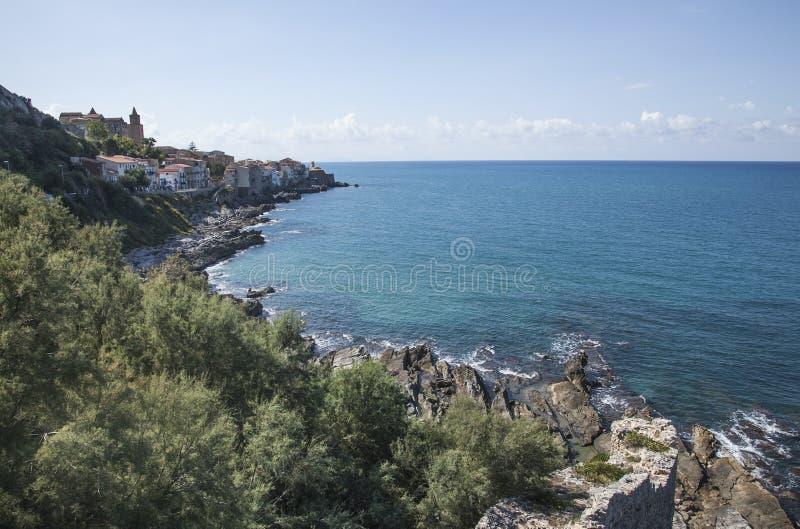 Mar una opinión de Sicilia, foto de archivo