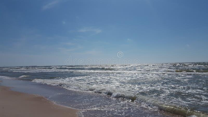 Mar ventoso imagem de stock