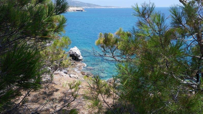 Mar verde fotografía de archivo