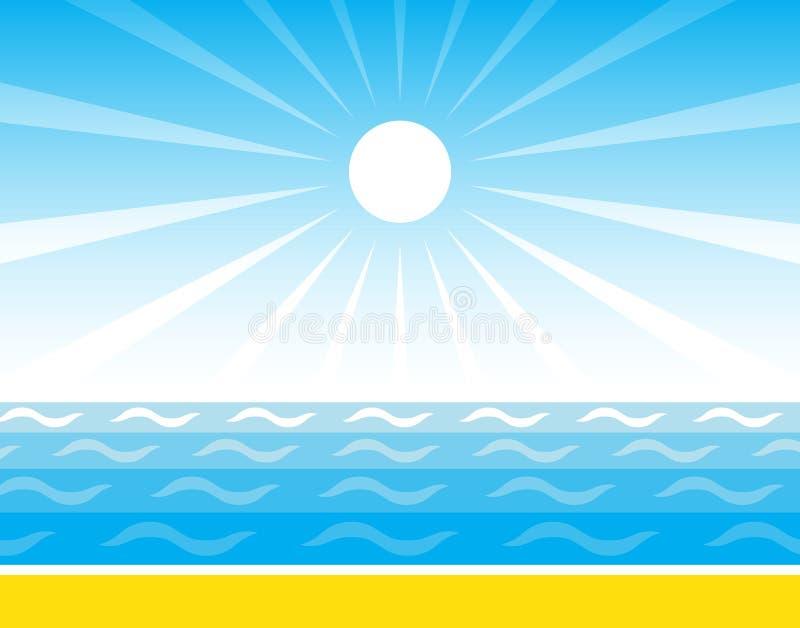 Mar y sol libre illustration