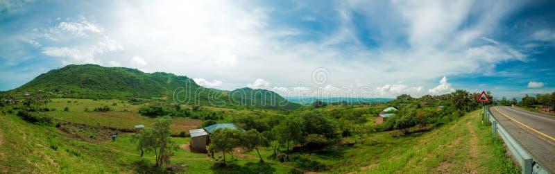 Mara Region Panorama. Panorama of the lush Mara region of Tanzania royalty free stock photography