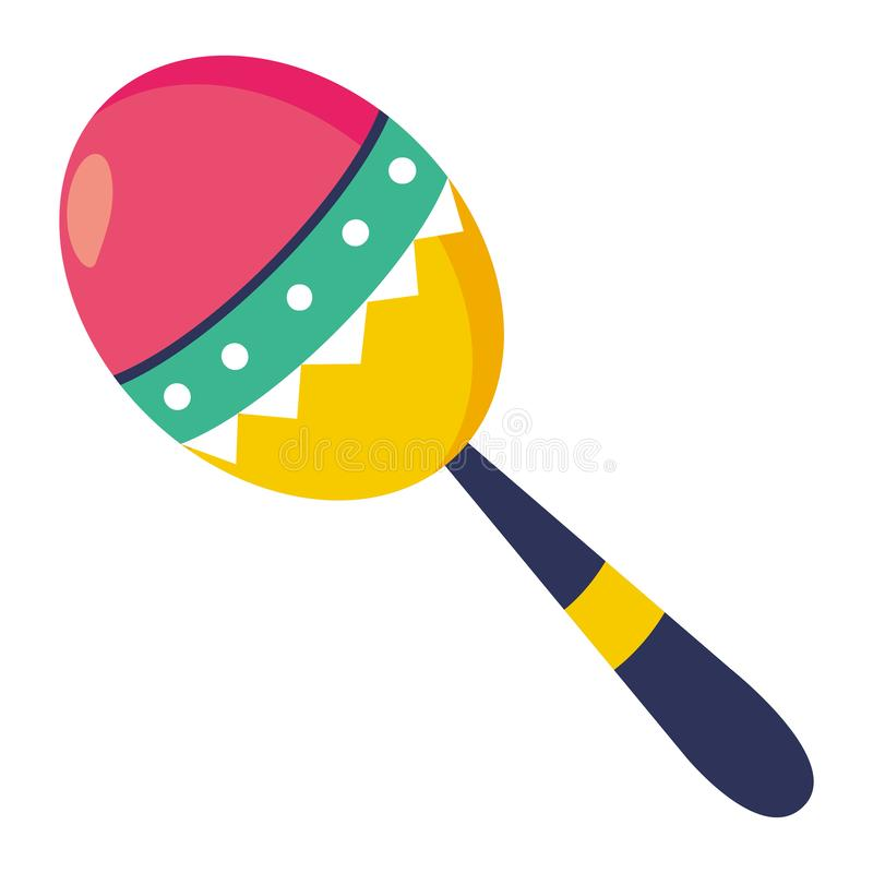 Maraca muzikaal instrument vector illustratie