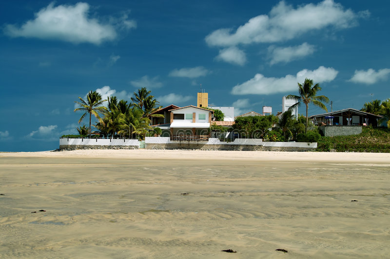 Maracaju's beach,Natal royalty free stock photo