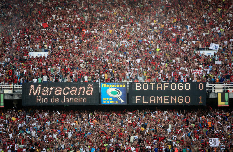 Maracana stadium. Final of the soccer rio state championship between flamengo and botafogo in the maracana stadium in rio de janeiro brazil stock photography