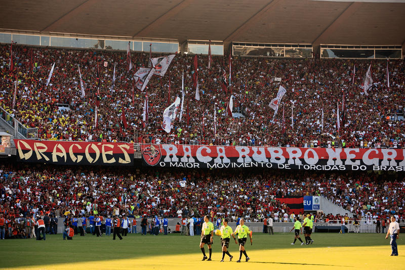 Maracana stadium. Final of the soccer rio state championship 2007 between flamengo and botafogo in the maracana stadium in rio de janeiro brazil royalty free stock photo