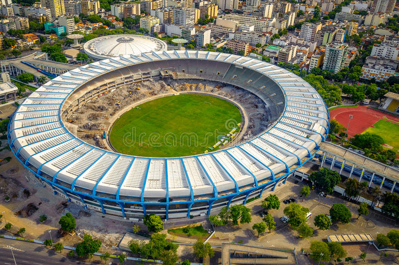 Maracanastadion stock foto