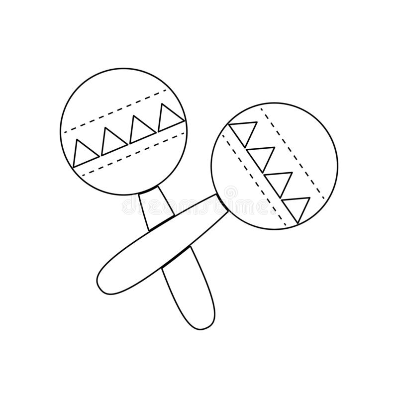 maracas, δονητές ρούμπα ή shac-shacs μουσικό εικονίδιο οργάνων Στοιχείο του οργάνου μουσικής για το κινητό εικονίδιο έννοιας και  ελεύθερη απεικόνιση δικαιώματος
