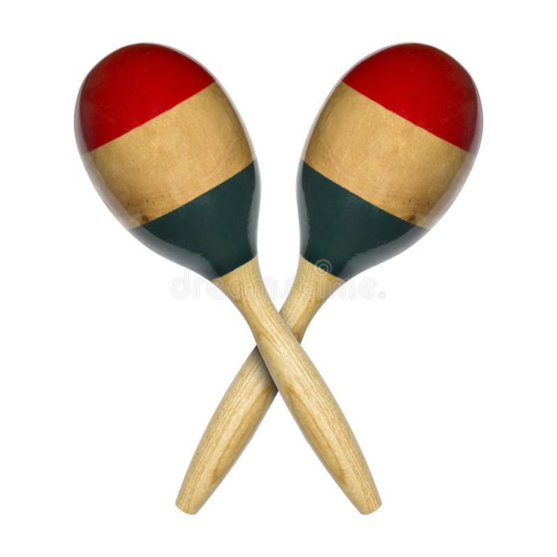 Maracas do chocalho foto de stock royalty free